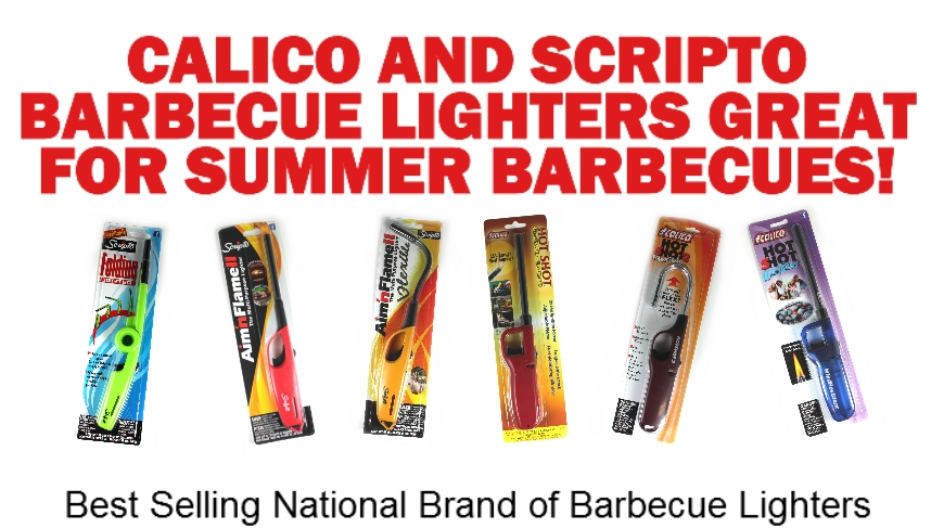 Calico and Scripto Wholesale Barbecue Lighters