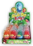 CHRISTMAS FLASH POP CANDY RING 24 COUNT