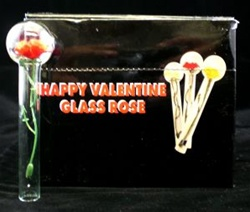 Happy Valentine Glass Rose Wholesale Only 140 Each